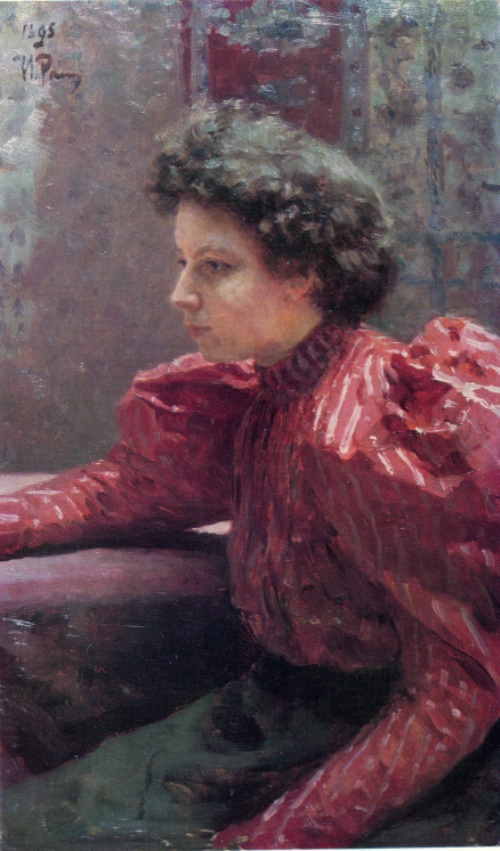 Ilya Repin. 1844-1930. Portrait of N. Repina. 1895. Oil on canvas