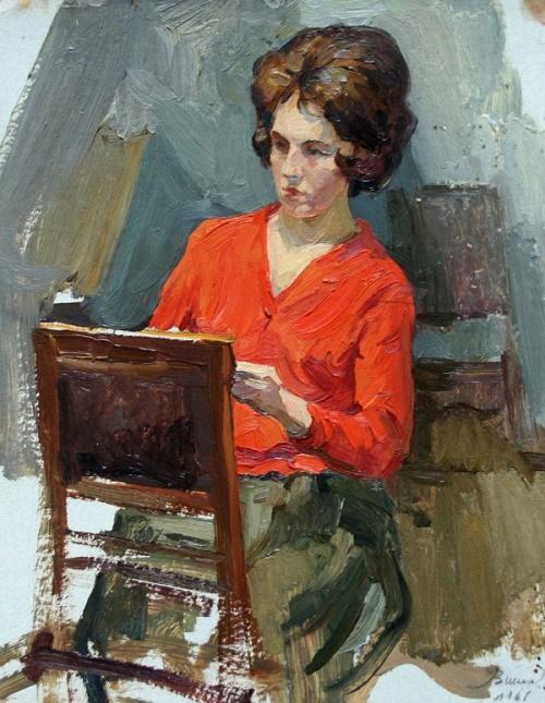 In art studio. 1961