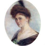 Isaak Levitan. 1860-1900. Portrait of E. Kolosovskaya. Gouache and pastel on paper