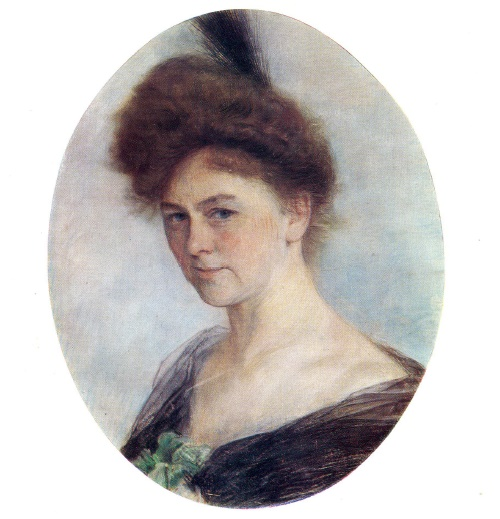 Isaak Levitan. 1860-1900. Portrait of E. Kolosovskaya. Gouache and pastel on paper