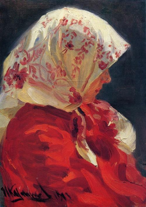 Ivan Kulikov. 1875-1941. Peasant woman. 1913. Oil on canvas