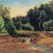 Ivan Shishkin. 1832-1898. Forest Landscape. 1872. Oil on cardboard