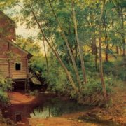 Ivan Shishkin. 1832-1898. Mill in the forest. 1897. Oil on canvas