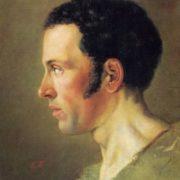 Karl Briullov. 1799-1852. Head of a man. Study. Oil on canvas