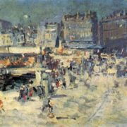 Konstantin Korovin. 1861-1939. Quay at Marseilles. Oil on canvas