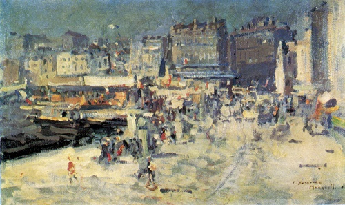 Konstantin Korovin. 1861-1939. Quay at Marseilles. Oil on canvas