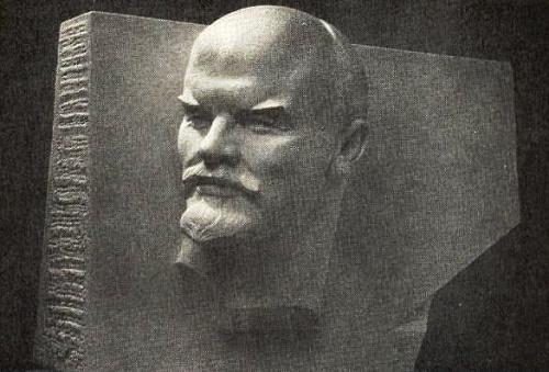 Lenin is our banner. Marble, 1966