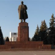 Lenin monument in Chelyabinsk