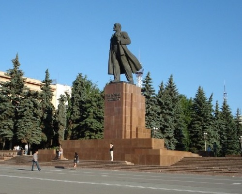 Lenin monument in Chelyabinsk. 1959