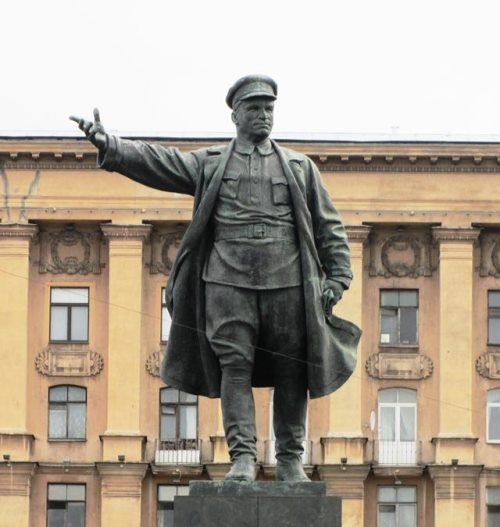 Leningrad monument to Kirov. Bronze, granite. 1935 - 1938