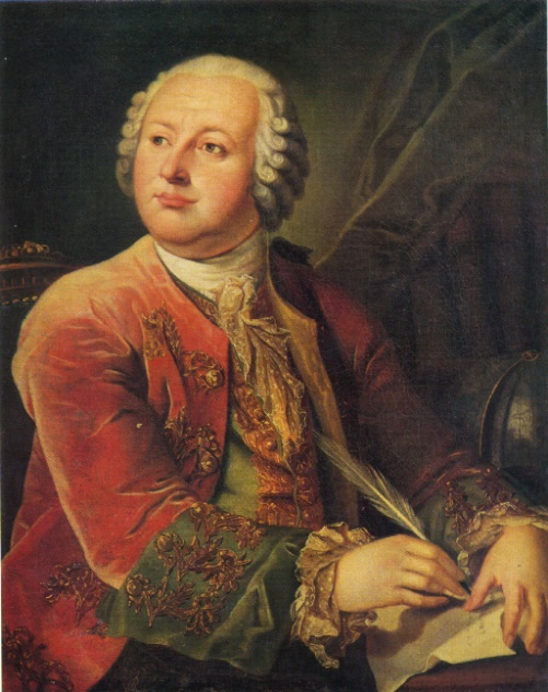 Leonty Miropolsky (Mitropolsky). 1749-1819. Portrait of Lomonosov. Repetition of a similarly entitled portrait (1785, Lomonosov museum, USSR Academy of Sciences, Leningrad). Oil on canvas