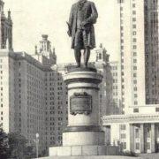 M.V. Lomonosov monument in Moscow. Bronze, granite. 1953