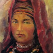 Mikhail Arinin. 1897-1967. Girl from the mountains of Uzbekistan. 1942. Oil on canvas