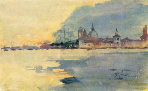 Mikhail Vrubel. 1856-1910. Venice. Watercolor on paper