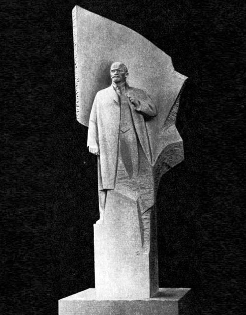 The model of the monument to Vladimir Lenin in Berlin. 1969. Gypsum