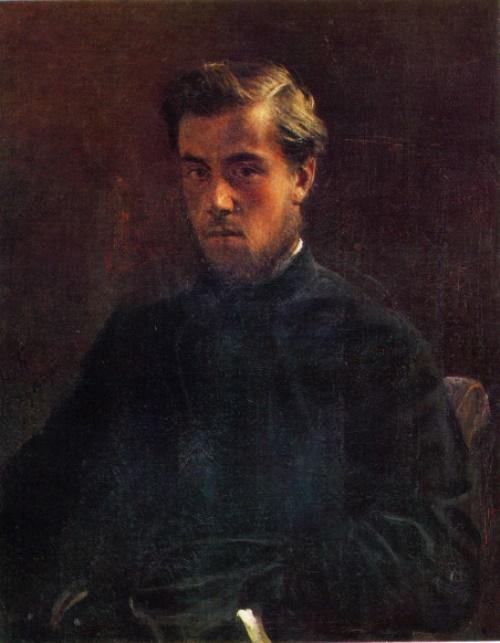 Nikolay Gay. 1831-1894. Portrait of M. Teplov. 1885. Oil on canvas