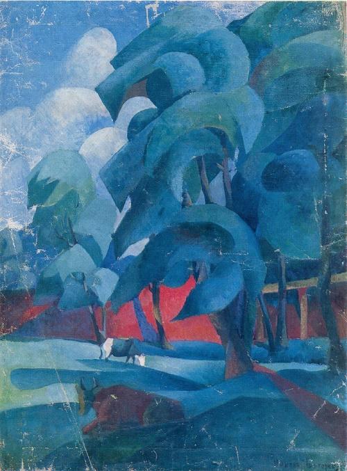 Nikolay Grigoryev. 1880-1953. Summer. 1919. Oil on canvas