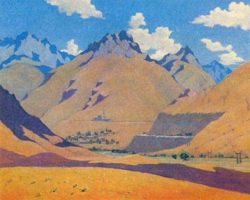 Nikolay Karakhan. 1900-1970. Bogustan. Autumn. 1958. Oil on canvas