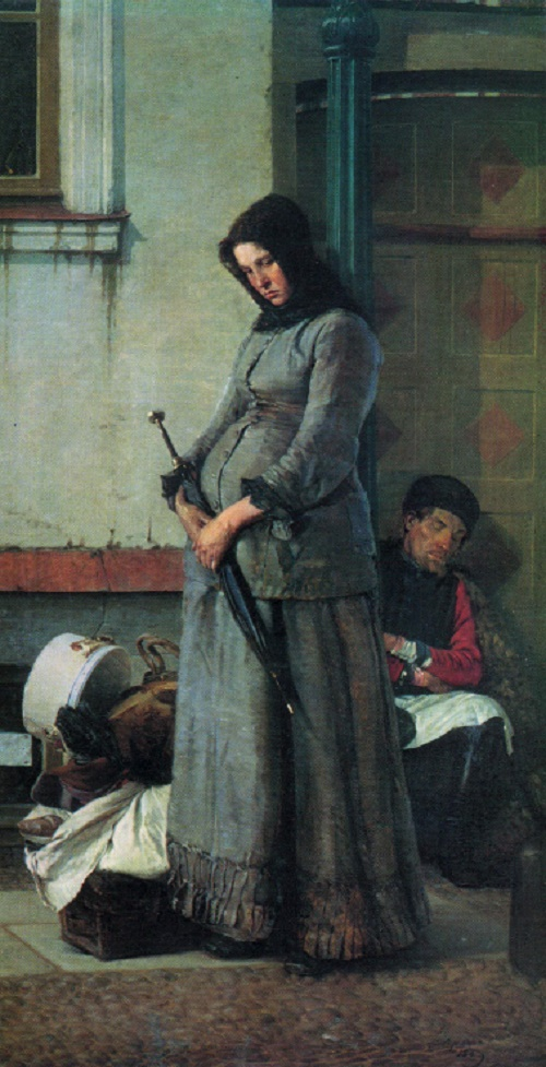 Nikolay Yaroshenko. 1846-1898. Dismissed. 1883. Oil on canvas