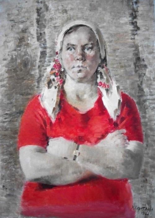Nina Makarovna from the village of Pochuevo. 1982. Oil on canvas