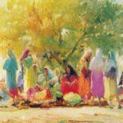 Oganes Tatevosian. 1889-1974. A sunny day. 1958. Oil on cardboard