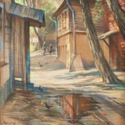 Oleg Vishnyakov (1935-2012). Yard on Sretenka. 1980