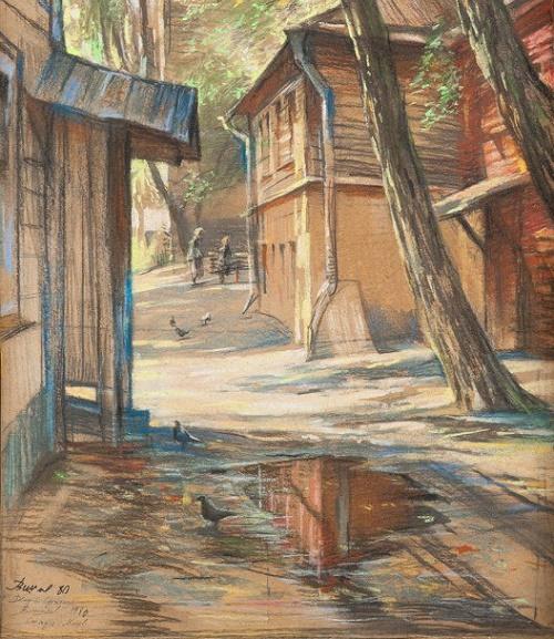 Oleg Vishnyakov (1935-2012). Yard on Sretenka. 1980
