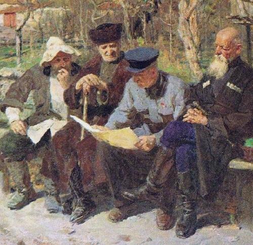 Soviet artist Pavel Mironovich Zaron (1915-1991). Golden autumn. 1957