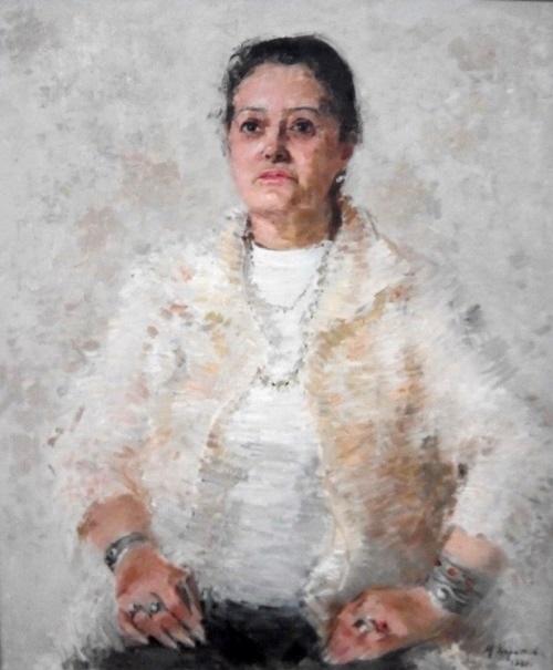 Portrait of artist A.M. Belyakova. 1981. Oil on canvas