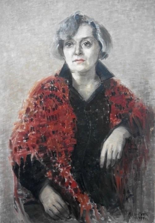 Portrait of artist M. Derzhavina. 1988. Oil on canvas