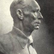 Portrait of vegetable grower I.I. Tikhonov. Marble, 1958