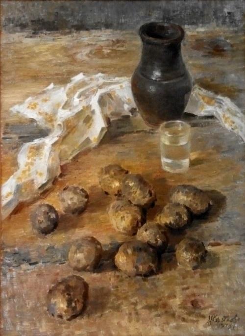 Potato. Vyshny Volchek. 1979. oil on canvas