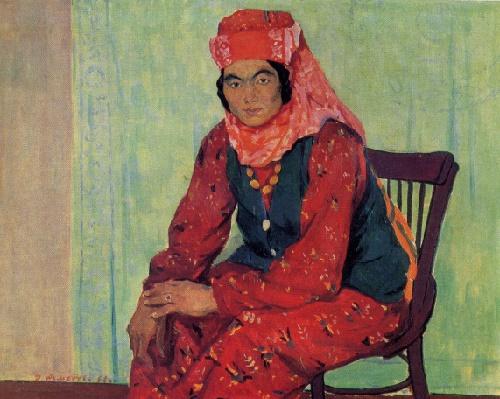 Rakhim Akhmedov. Born 1924. Female portrait. 1962. Oil on canvas