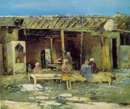 Richard Sommer. 1866-1939. Chaikhana (Tea-house). Oil on canvas