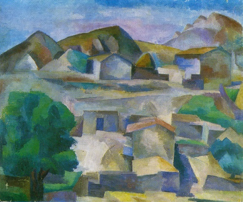 Robert Falk. 1886-1958. Landscape. 1915. Oil on canvas