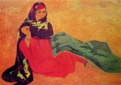 Ruzy Charyev. Born 1931. The bride. 1967. Tempera on canvas
