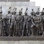 Sculptural composition, detail of monument to Kutuzov