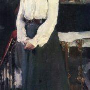 Semion Nikiforov. 1881-1912. Portrait of S. Rykova. 1903. Oil on canvas