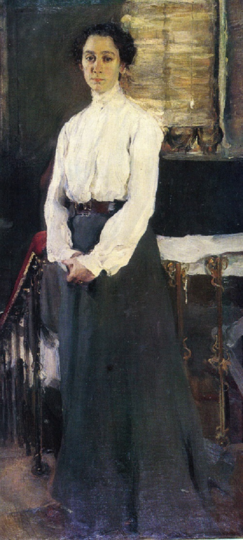 Semion Nikiforov. 1881-1912. Portrait of S. Rykova. 1903. Oil on canvas