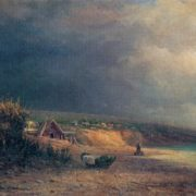 Sergey Ammosov. 1837-1886. Approaching storm. 1874. Oil on canvas