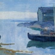 Sergey Gerasimov. 1885-1964. On the white sea. 1931. Oil on canvas
