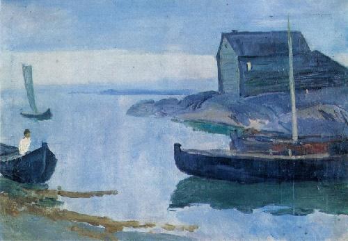 Sergey Gerasimov. 1885-1964. On the white sea. 1931. Oil on canvas