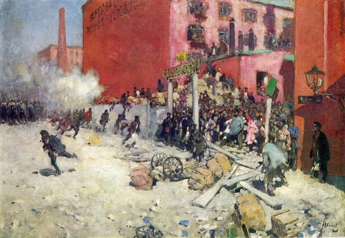 Sergey Ivanov. 1864-1910. Strike. 1903. Oil on canvas