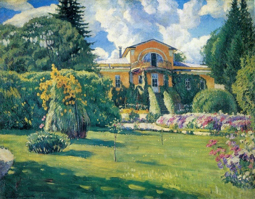 Sergey Vinogradov. 1869-1938. Dacha near Moscow. Oil on canvas