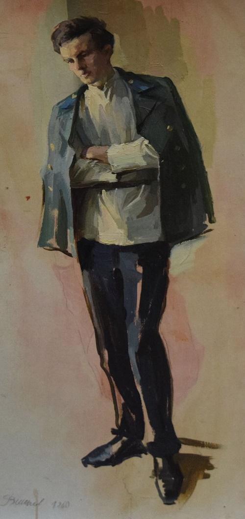 Sketch for the painting of Vladimir Ulyanov (Lenin). 1960