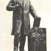 Sketch of the monument to Karl Marx to Moscow. Bronze 1958