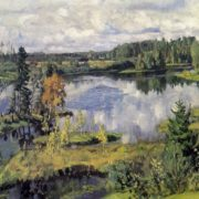 Stanislav Zhukovsky. 1873-1944. Northern landscape. 1909. Oil on canvas