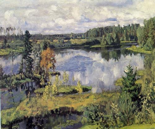 Stanislav Zhukovsky. 1873-1944. Northern landscape. 1909. Oil on canvas