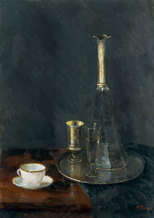 Still life with a white cup. 1969