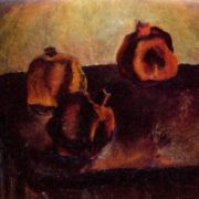 Still life with pomegranates. 1968. Oil on canvas. Private collection. Moscow